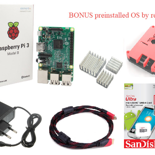 Foto Produk Paket Raspberry Pi 3 model B Bonus OS dan Custom Case dari BIKIN3D