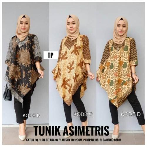 Foto Produk tunik batik blouse asimetris dari Batik Sri