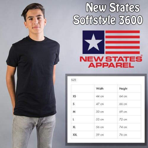 Foto Produk KAOS POLOS New States Softstyle 3600 (COLOR, SIZE XXL ) dari Kaos Polos Theobald