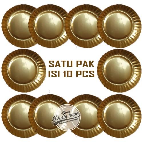 Foto Produk piring kue warna gold / piring kue kertas / paper plate gold / piring dari PARTY HOPE 2
