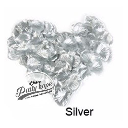 Foto Produk rose petal silver / kelopak bunga mawar silver / kelopak bunga kain dari PARTY HOPE 2