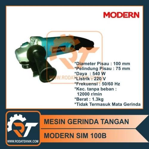 Foto Produk TERMURAH - MESIN GERINDA MODERN SIM 100 GRINDA SIM100 GERGAJI BESI dari Roda Teknik