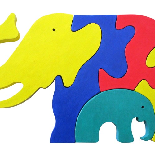 Foto Produk puzzle kayu gajah BA elephant dari suvicraft