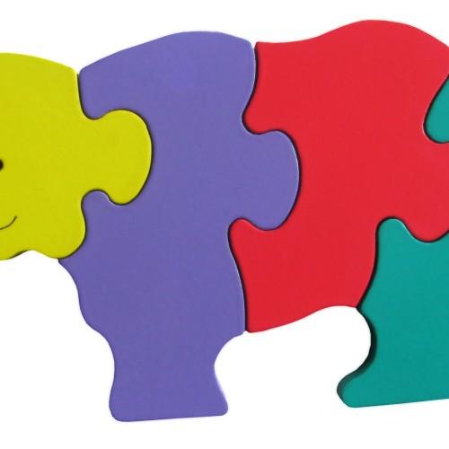 Foto Produk puzzle kayu badak rhino dari suvicraft
