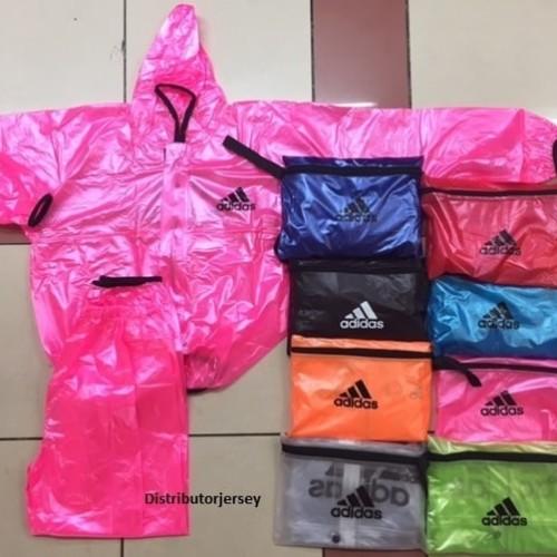 Foto Produk Jaket Jas Hujan Mantel Celana Ponco Adidas Sauna All Size - Biru dari Vadisya Shop
