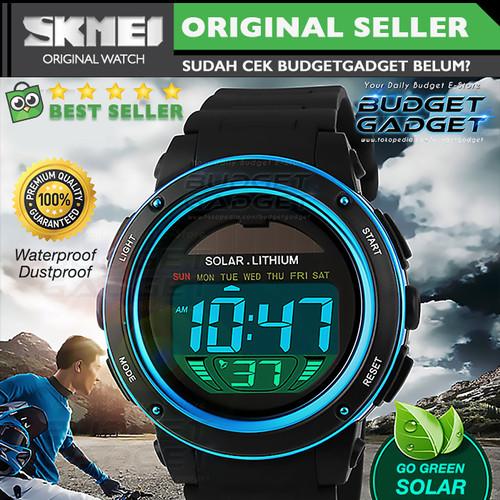 Foto Produk SKMEI Solar Power Jam Tangan LED Watch Water Resistant 50m - DG1096 - Biru dari BudgetGadget