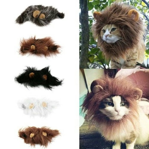 Foto Produk krudung wig singa untuk kucing - Hitam dari alhamdulillahshop