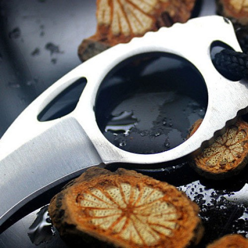 Foto Produk Pisau Jari Kerambit Pramuka Steel Mini Claw Finger Knife EDC Camping dari lbagstore
