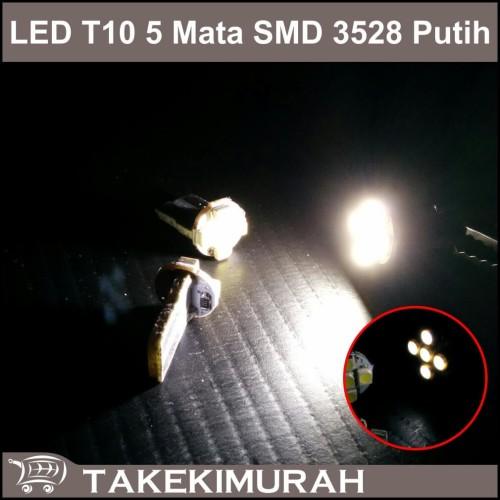 Foto Produk LED T10 5 Mata SMD 3528 Putih dari Takekimurah