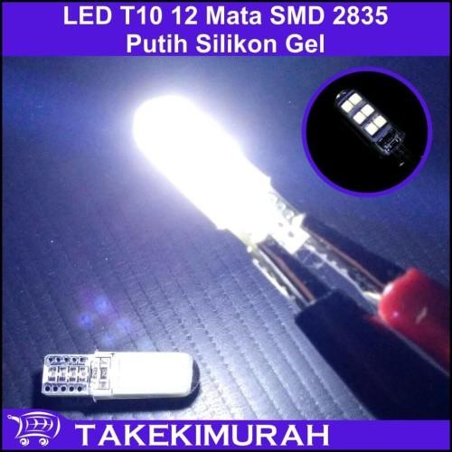 Foto Produk LED T10 12 Mata SMD 2835 Putih Silikon Gel dari Takekimurah