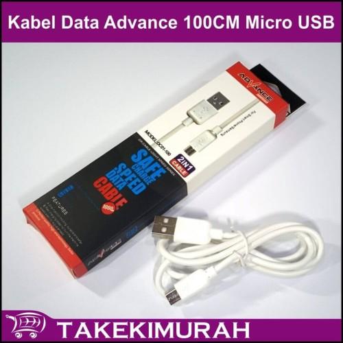 Foto Produk Kabel Data Advance 100CM Micro USB DC01-100 dari Takekimurah
