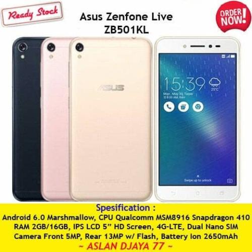 Foto Produk Asus Zenfone Live ZB501KL Black & Gold Color (Free Tempered Glass) dari Aslan Djaya 77