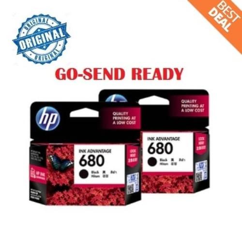 Foto Produk HP 680 ORIGINAL Black Ink / hitam printer 2135 3635 3835 4675 1115 dari KevKen Shop