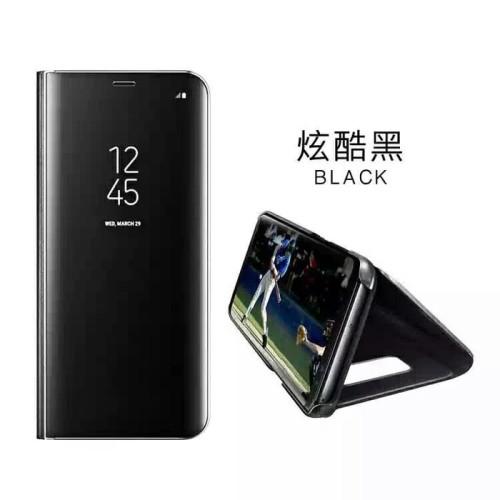 Foto Produk Clear view standing cover case Samsung galaxy J7 Pro ( NO BRAND) - Hitam dari importking