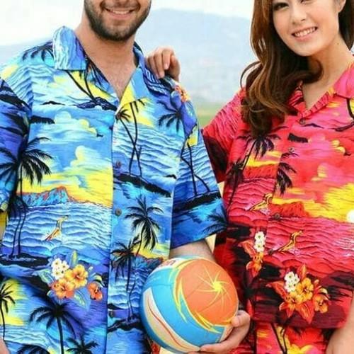 Foto Produk Kemeja Pantai Hawai Bali XXXL Besar Atasan Pria dan Wanita Baju Murah - Biru dari Intan Bali