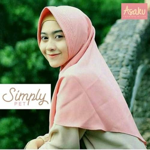 Foto Produk jilbab instan polos/hijab instan polos SImply Pet dari Ararya-grosir