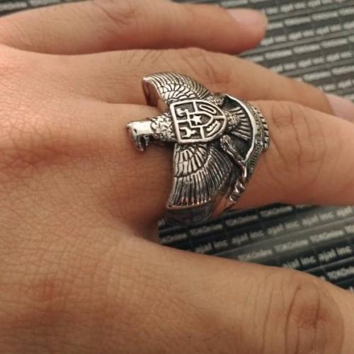 Foto Produk Garuda Pancasila stainless steel 316L skull ring / cincin tengkorak dari tokonline jakarta