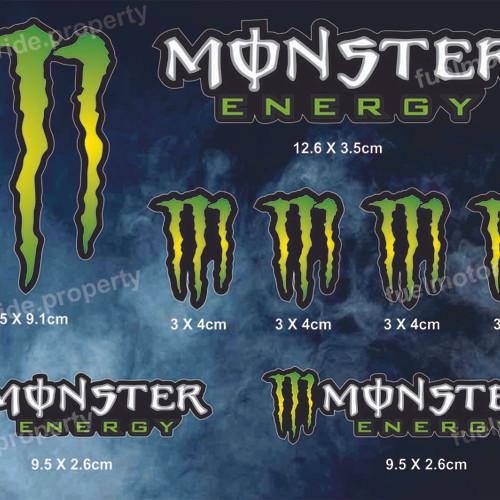 Foto Produk Sticker Monster Energy Set utk custom Helm Motor ARAI SHOEI CBR NINJA dari Fuel