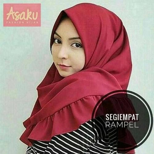 Foto Produk Hijab segiempat rempel polos/Jilbab segiempat Rempel polos REMPEL dari Ararya-grosir