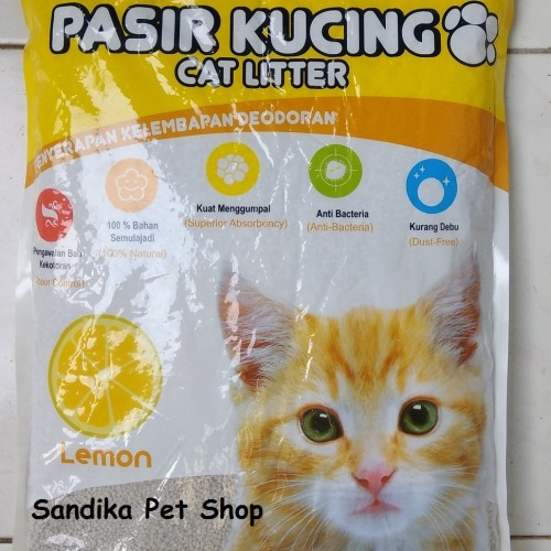 Foto Produk Pasir Kucing / Pasir Gumpal / Pasir Wangi KAWAN 5 L - APEL dari Sandika Petshop
