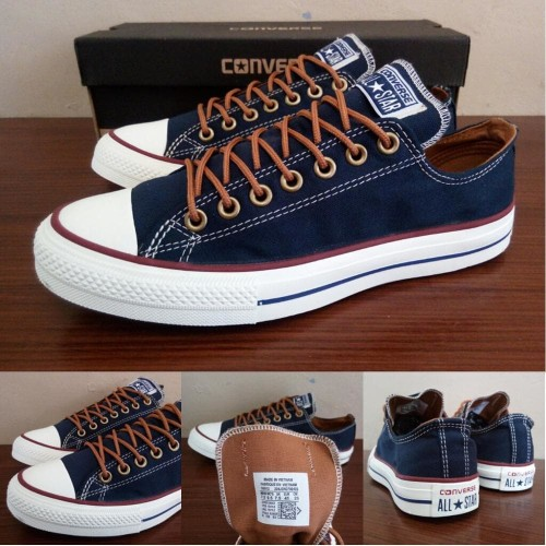 Foto Produk Sepatu All Star Converse Classic Peached Ox Biru Navy Murah dari Toko All Star Murah