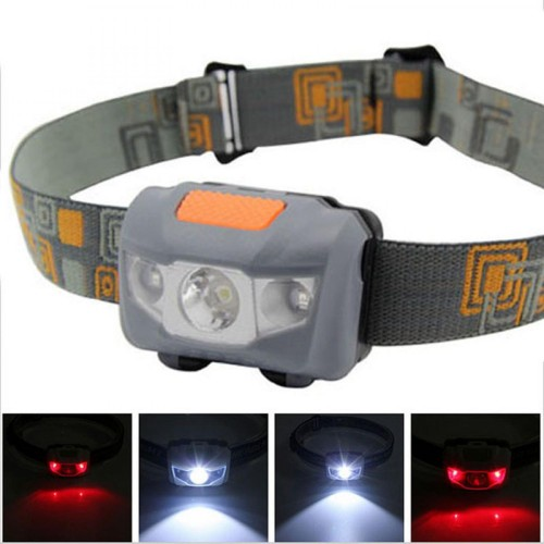 Foto Produk Headlamp Flashlight Waterproof White & Red LED Lampu Kepala dari BudgetGadget