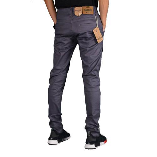 Foto Produk Celana Chino Premium Bandung ANZ Grey ABu - Hitam, M dari Anza Shop