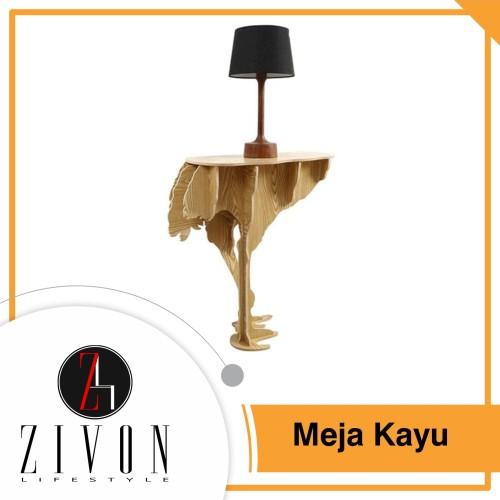 Foto Produk Meja Kayu Serbaguna Pajangan Dekorasi Table Wooden MJ19 dari ZIVON HOME DECOR