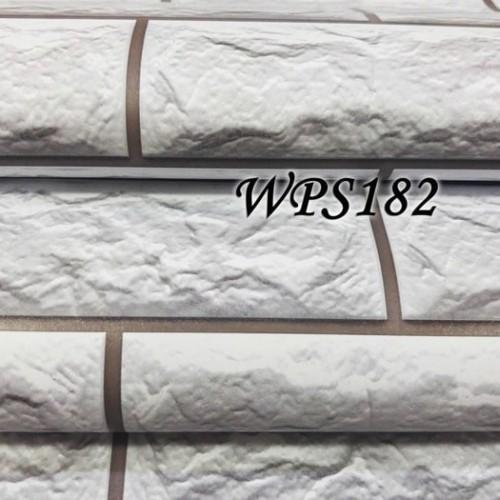 Foto Produk WALLPAPER STIKER 45CMX5M- WPS182 SOFT GREY STONE BRICK dari JEJOMART