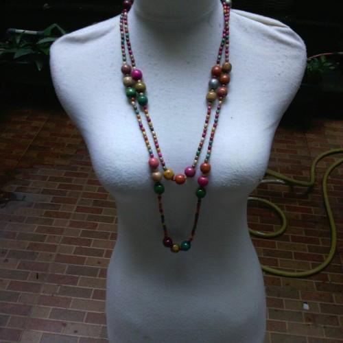 Foto Produk kalung batu kayu etnik dari ToruzShop