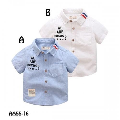 Foto Produk ATASAN ANAK SHORT TEE BLUE  AA5516A dari Bebi J Shop