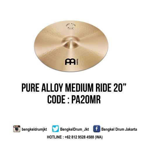 "Foto Produk Meinl Cymbal Pure Alloy Medium Ride 20"" dari Bengkel Drum Jakarta"