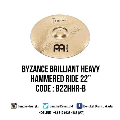 "Foto Produk Meinl Cymbal Byzance Brilliant Heavy Hammered Ride 22"" dari Bengkel Drum Jakarta"