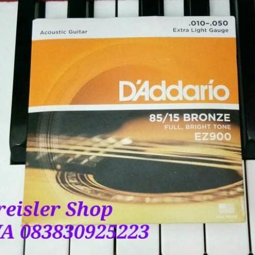 Foto Produk Senar gitar akustik string D'addario EZ900 0.10 set isi 6 dari Kreisler Shop