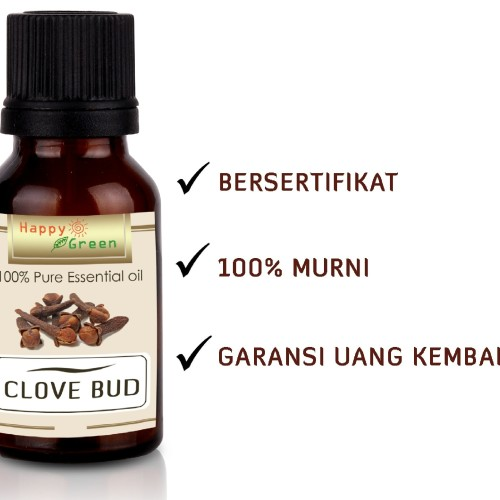 Foto Produk 80 ml Clove Bud Essential Oil (Minyak Bunga Cengkeh ) - Happy Green dari Happy Green - Grosir