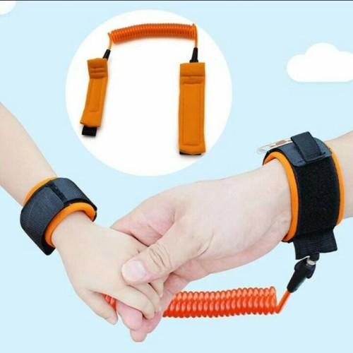 Foto Produk Wrist Link Harness Strap Rope Tali Tangan Safety Child Anti Lost 1,5 M - Orange dari Toko Murah Naufal