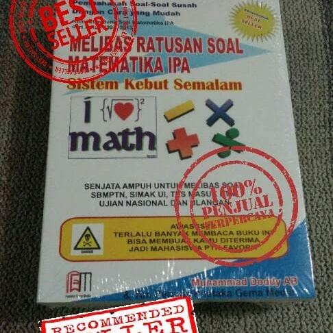 Foto Produk Buku Melibas Matematika IPA sistem kebut semalam dari denny gema media