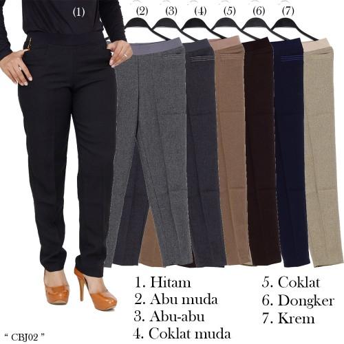 Foto Produk Celana Kerja ukuran JUMBO Celana panjang wanita bahan niagara dari Shaniacloth