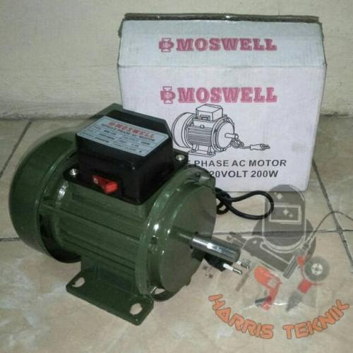 Foto Produk Dinamo motor single phase AC 200 watt Moswell MW-125-2 dari Harris Teknik