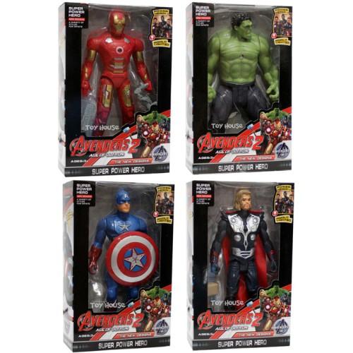 Foto Produk Mainan Robot Avenger 2 Thor + IronMan + Hulk + Captain America KECIL dari istanatoys.net