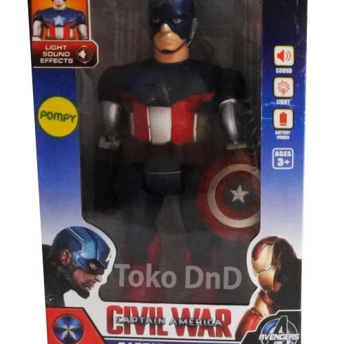 Foto Produk Mainan Anak - Robot Captain America Civil War Light Sound Tameng dari Toko DnD