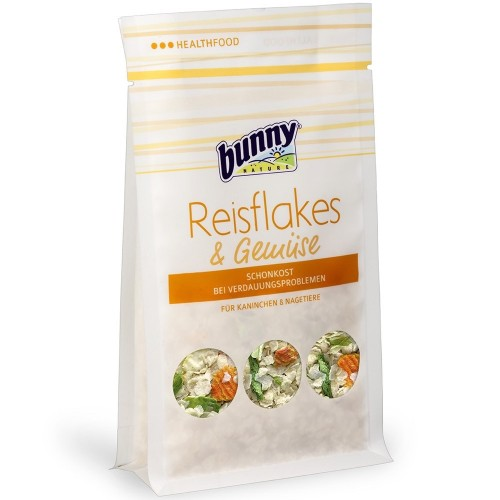 Foto Produk Bunny Nature Snack Rice Flakes and Vegetables 80gr Kelinci Rodents - EXP 2022-06-24 dari Hime petshop