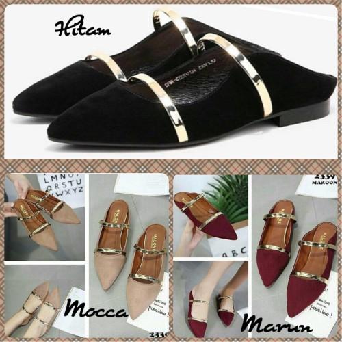 Foto Produk Flat Shoes Sepatu Balet Ivory NJ08 / C02 dari Nin's Collections