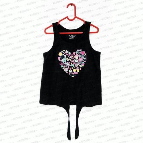 Foto Produk Summer Heart Black Tanktop Anak Perempuan dari Witstoria