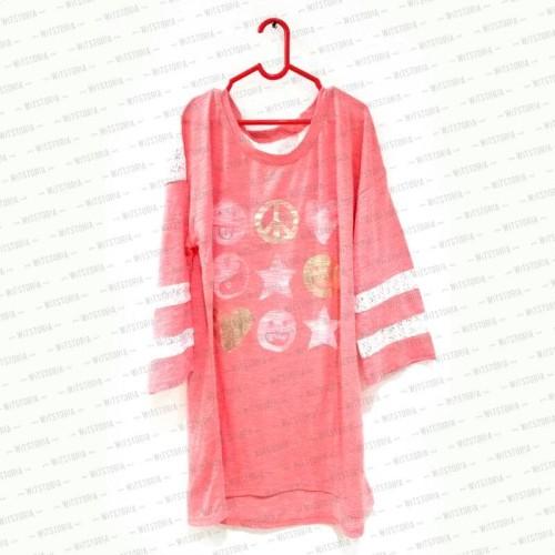 Foto Produk Peace Love Pink Lace Shirt Renda dari Witstoria