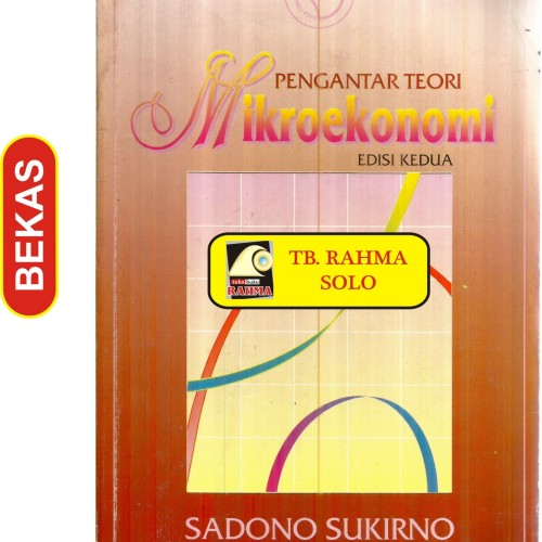 Jual Bl 2 187 Pengantar Teori Mikroekonomi Edisi Kedua Sadono Sukirno Pt Kota Yogyakarta Toko Buku Rahma Tokopedia