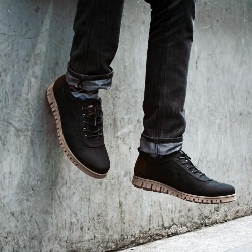 Foto Produk Sepatu Derby Pria  FTP Polka Black (BESTSELLER) dari Bokangco Store