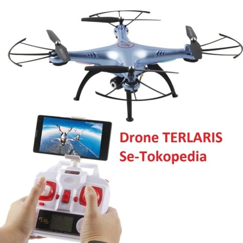 Foto Produk Drone Quadcopter Syma X5HW Wifi FPV Camera Altitude hold Jakartahobby dari LAPAK-JOO