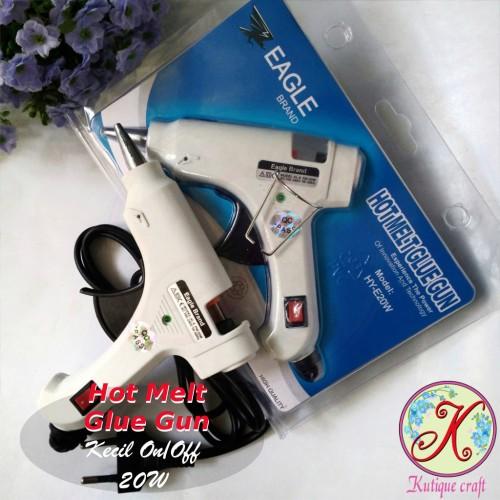 Foto Produk Hot Melt Glue Gun Eagle 20W / Lem Tembak kecil dari Kutique Craft