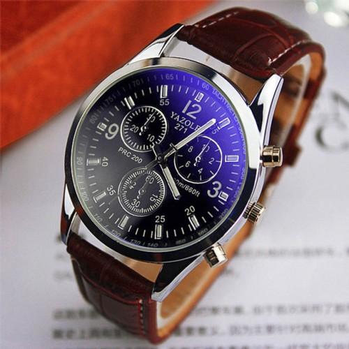 Foto Produk Yazole 271 Jam Tangan Pria Original Quartz Watches - Black/Brown Dial dari Gadget Holic